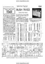 Buy BUSH TR102 VINTAGE WIRELESS SERVICE SHEETS by download Mauritron #328139