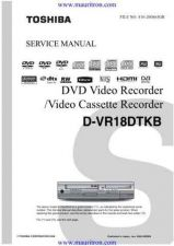 Buy Toshiba D-VR18DTKB Service Manual by download Mauritron #328040