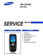 Buy Samsung SGH-X620 Mobile Phone Service Manual by download Mauritron #306472