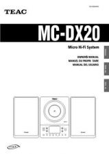 Buy Teac MC-DV250EFSC Operating Guide by download Mauritron #318884