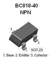 Buy SMT Transistor - BC818 NPN General Purpose Amplifier (SOT-23) - 26 Pieces