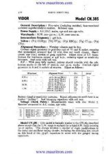 Buy VIDOR. CN385 Vintage. Service Sheets. by download Mauritron #315268
