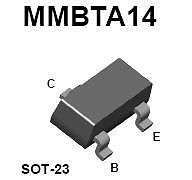 Buy SMT Transistor - MMBTA14 NPN Darlington Amplifier (SOT-23) - 20 Pieces