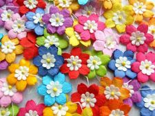 Buy 50 CUTE MIXCOLORFUL MULBERRY PAPER FLOWER EMBELLISHMENT CRAFT WEDDING CARD NEW