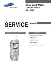 Buy Samsung SGH-N620 Mobile Phone Service Manual by download Mauritron #306396