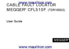 Buy Megger TDR-500 Test Equipment Instruction Operating Guide Manual by download Mauritro