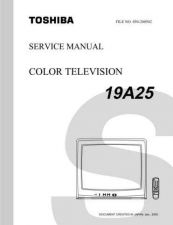 Buy Toshiba 19A25 TV Service Manual by download Mauritron #322998
