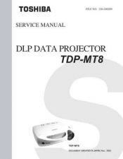 Buy Toshiba TDPMT8 Service Manual by download Mauritron #333205