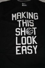 "Buy New Men's Nike Graphic T-shirt ""MAKING THIS SHOT LOOK EASY"" Size Large"