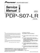 Buy Panasonic PDP-S07-LR Manual by download Mauritron #301208