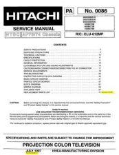 Buy Hitachi 46UX50B-51K Service Manual by download Mauritron #288055