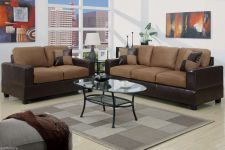 Buy Microfiber sofa couch Faux Leather sofa set 2 Pc living room sofa Loveseat F7592