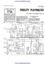 Buy FIDELITY PLAYMASTER MAJOR Service Manual by download Mauritron #315388