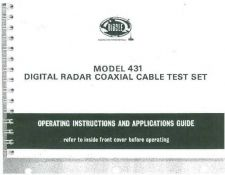 Buy Megger TDR431 Operating Guide by download #336288