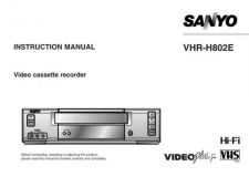 Buy Sanyo VHRH802E Operating Guide by download Mauritron #327876