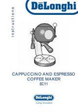Buy De Longhi EC11 Coffee Machine Operating Guide by download Mauritron #316382