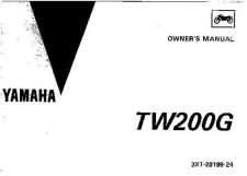 Buy Yamaha 3XT-28199-24 Motorcycle Manual by download #334195