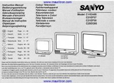 Buy Sanyo C21EF57 Colour TV Operating Guide Manual by download Mauritron #312595