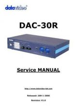 Buy Datavideo DAC30 Operating Guide by download Mauritron #324909