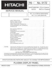 Buy Hitachi 50HDA39 Service Manual by download Mauritron #288133