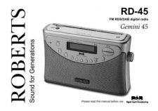 Buy Roberts Gemini 45 DAB Radio Operating Instruction Guide by download Mauritron #306669