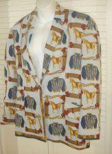 Buy MARINA SITBON KAMOSHO HORSE PRINT Blazer 44 10 Jacket Equestrian Spring Paris