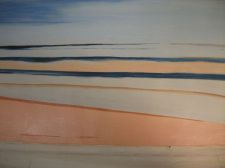 Buy Sandy Beach Painting on canvas ready to hang. finished off by hand. original