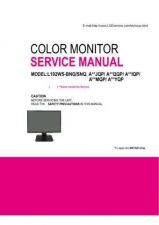Buy LG SERVICe Manual for L192WS Manual by download Mauritron #305886