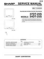 Buy Sharp 37DT25S Service Manual by download Mauritron #322669