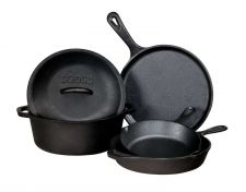 Buy Cast Iron Skillet Pan Cookware Stove Kitchen Camping Frying Oven Griddle Black