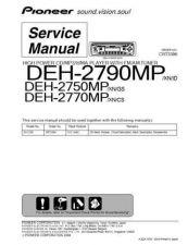 Buy Panasonic PIONEER DEH-2750MP Manual by download Mauritron #301262