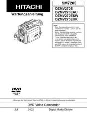 Buy Hitachi DZMV380E Service Manual by download Mauritron #290046