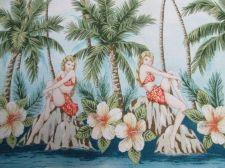 Buy Handkerchief Hanky Hawaii Rayon Blue Cloth Fabric 55 x 55 cm Scarf Wrapping Head