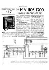 Buy HMV. 1103. VINTAGE WIRELESS. SERVICE SHEETS. Manual by download Mauritron #312320