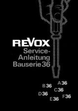 Buy Revox A36 F36 Service Manual D by download Mauritron #312181