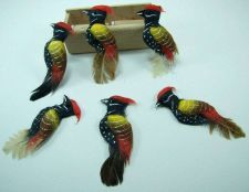 Buy CUTE WOODPECKER BIRDS ARTIFICIAL MINI TINY CRAFT DIY DECORATIVE FLORAL DOLLHOUSE