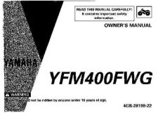 Buy Yamaha 4GB-28199-22 Quad ATV Bike Manual by download #334272