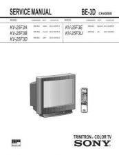 Buy Sony KV25F3U Service Manual by download Mauritron #329962
