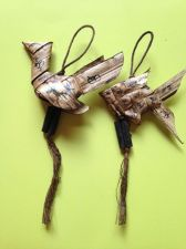 Buy PLA TARPHIAN FISH AND PAYA KAI CHICKEN MADE FROM PALM LEAF 2 TAKRUT THAI AMULET
