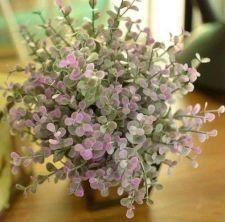 Buy 24 PCS ARTIFICIAL EUCALYPTUS PICK FOLIAGE FLOWER LEAF PLANTS VIOLET LOTS WEDDING