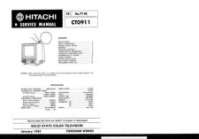 Buy Hitachi CT-1957-2 Service Manual by download Mauritron #289486
