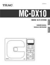 Buy Teac MC-DX30QuickGuide6L Operating Guide by download Mauritron #318960