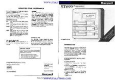 Buy Honeywell ST699 Timer User Instructions by download Mauritron #315416