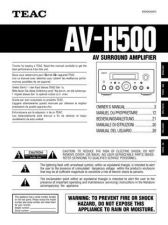 Buy Teac AVH500DEFGIS Operating Guide by download Mauritron #318354