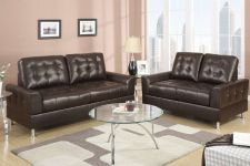 Buy Leather Sofa and Loveseat Sofa Furniture 2 Piece Living room set #7563 POUNDEX