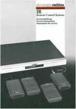 Buy Revox IR Remote Sys Service Manual by download Mauritron #313065
