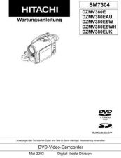 Buy Hitachi DZMV380EUK Service Manual by download Mauritron #290091