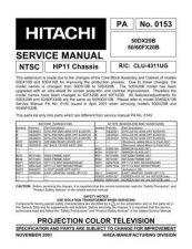 Buy Hitachi PA0153 Service Manual by download Mauritron #323255