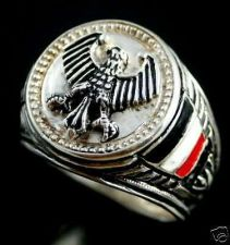 Buy Imperial Prussian Eagle Coin ring Sterling Silver Lge.