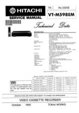 Buy Hitachi VT9100A Service Manual by download Mauritron #287116